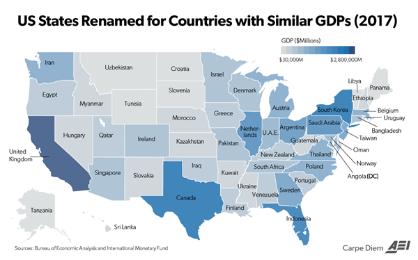 State Nation GDP Chart Map