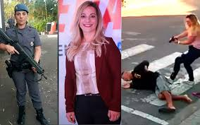 Katie Sasstre Brazil Sao Paulo Policewoman