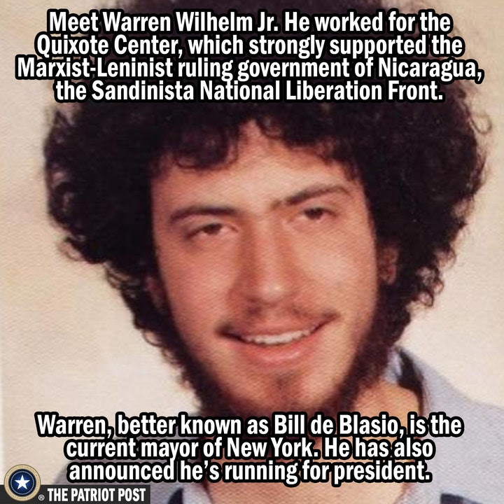 New York Mayor Bill de Blasio As You've Not Seen Him Before!  Food For Thought