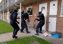 Police busting people