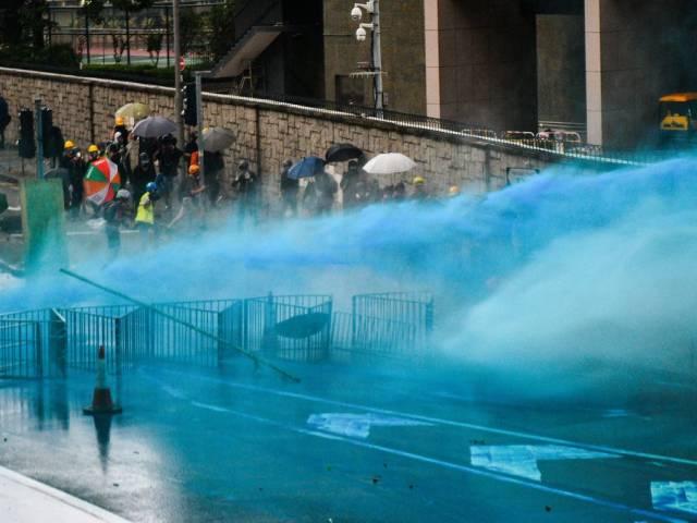 Blue Dye I.D. Rioters