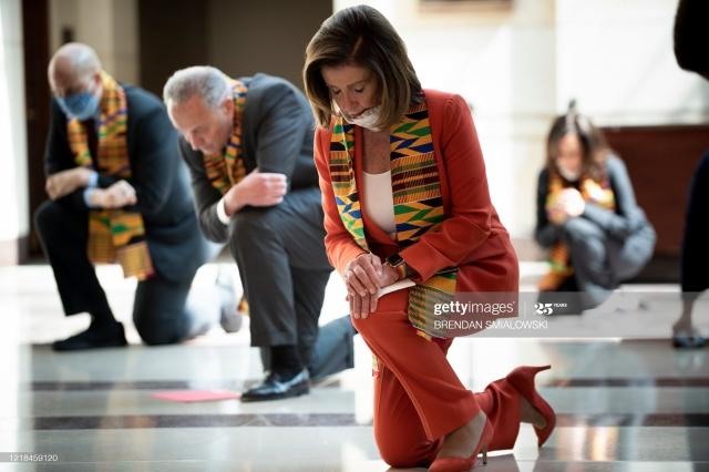 Democrats wearing Kente cloth
